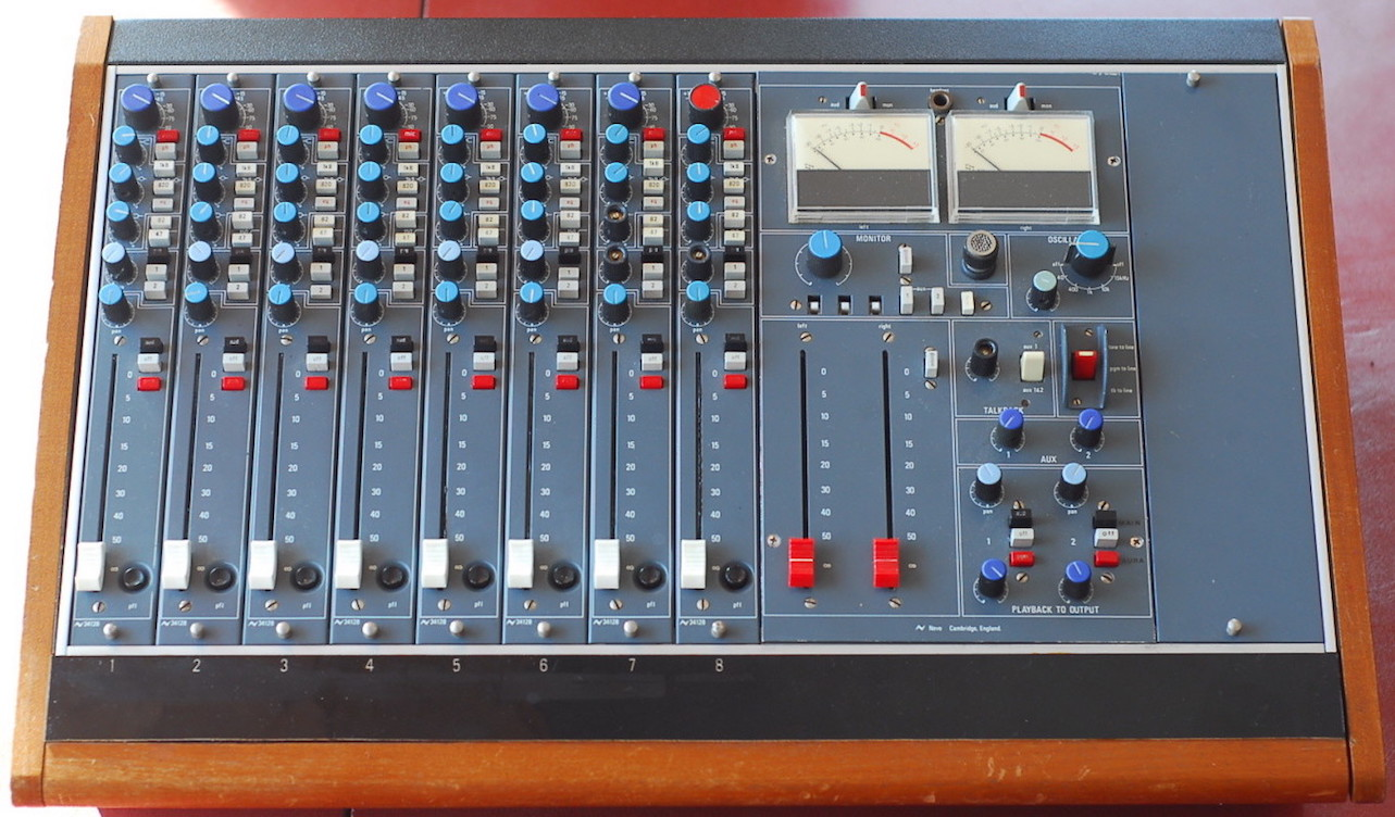 Neve 5422 Suitcase Mix Console, also with lots of faders and knobs